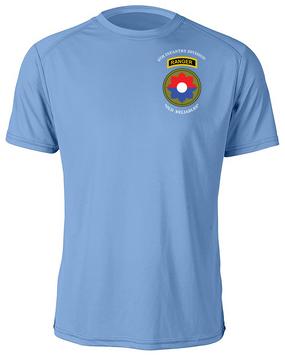 9th Infantry Division w/ Ranger Tab Moisture Wick Shirt -(Pocket)