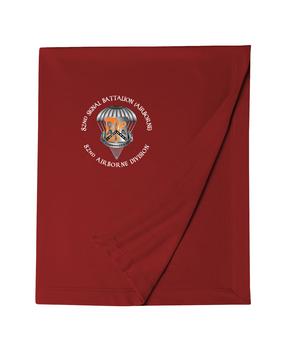 82nd Signal Battalion Embroidered Dryblend Stadium Blanket