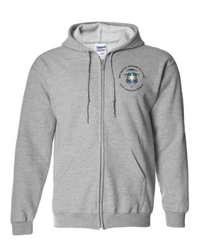 313th MI Battalion Embroidered Hooded Sweatshirt with Zipper