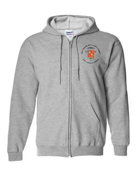 319th Field Artillery Embroidered Hooded Sweatshirt with Zipper