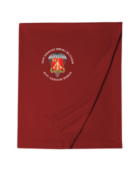 782nd Maintenance Battalion Embroidered Dryblend Stadium Blanket