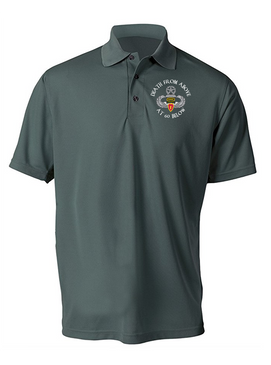 4th Brigade Combat Team (Airborne) Ranger Embroidered Moisture Wick Polo