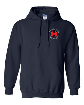7th Infantry Division Embroidered Hooded Sweatshirt (C)