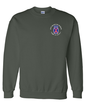 10th Mountain Division Embroidered Sweatshirt