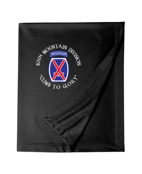 10th Mountain Division Embroidered Dryblend Stadium Blanket