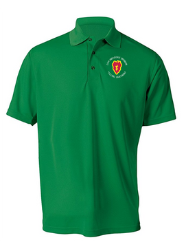 25th Infantry Division Embroidered Moisture Wick Polo