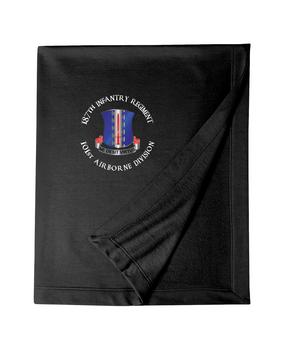 187th Regimental Combat Team Embroidered Dryblend Stadium Blanket