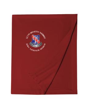 327th Infantry Regiment Embroidered Dryblend Stadium Blanket