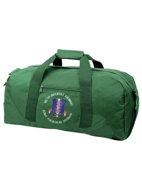 187th Regimental Combat Team Embroidered Duffel Bag