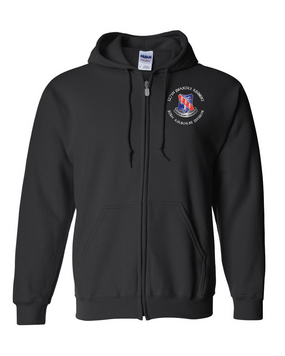 327th Infantry Regiment Embroidered Hooded Sweatshirt with Zipper