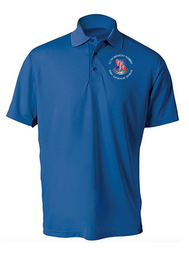 327th Infantry Regiment Embroidered Moisture Wick Polo