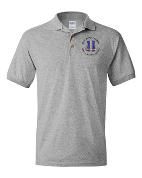 187th Regimental Combat Team Embroidered Cotton Polo Shirt