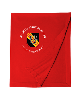 5th Special Forces Group V2 Embroidered Dryblend Stadium Blanket