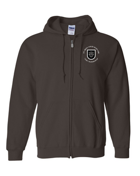 5th Special Forces Group V1 Embroidered Hooded Sweatshirt with Zipper (C)