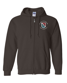 11th Special Forces Group  Embroidered Hooded Sweatshirt with Zipper (C)