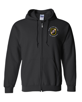 46th Special Forces Group  Embroidered Hooded Sweatshirt with Zipper (C)