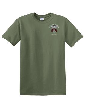 2-75th Ranger Battalion Original Scroll Cotton T-Shirt (C)