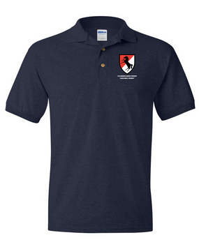 11th Armored Cavalry Regiment Embroidered Cotton Polo Shirt -3916 tzvimQv