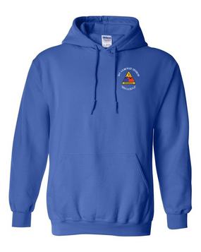 3rd Armored Division Embroidered Hooded Sweatshirt (C)