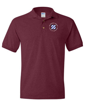 3rd Infantry Division Embroidered Cotton Polo Shirt (C)