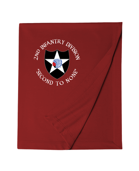2nd Infantry Division Embroidered Dryblend Stadium Blanket (C)
