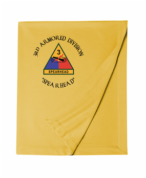 3rd Armored Division Embroidered Dryblend Stadium Blanket (C)
