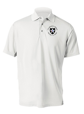2nd Infantry Division Embroidered Moisture Wick Polo (C)