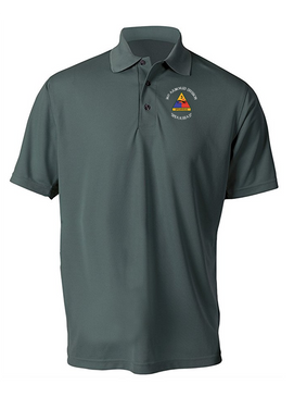 3rd Armored Division Embroidered Moisture Wick Polo (C)