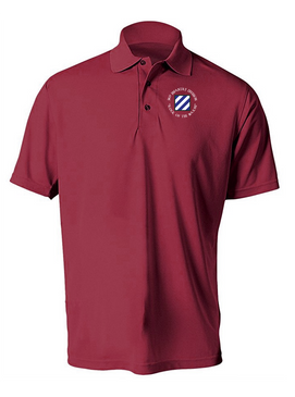 3rd Infantry Division Embroidered Moisture Wick Polo (C)