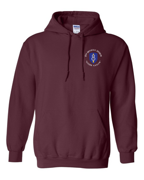 8th Infantry Division Embroidered Hooded Sweatshirt  (C)