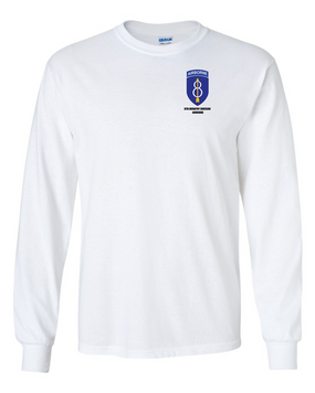 8th Infantry Division Airborne Long-Sleeve Cotton Shirt  -Pocket