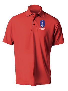 8th Infantry Division Airborne Embroidered Moisture Wick Polo