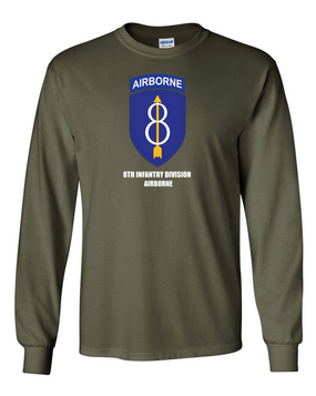 8th Infantry Division Airborne Long-Sleeve Cotton Shirt  -Chest