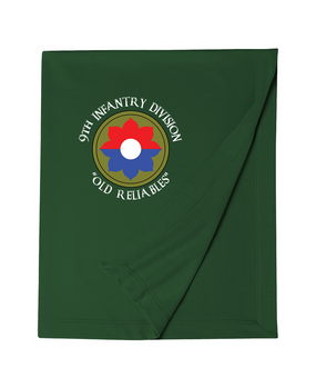 9th Infantry Division Embroidered Dryblend Stadium Blanket (C)
