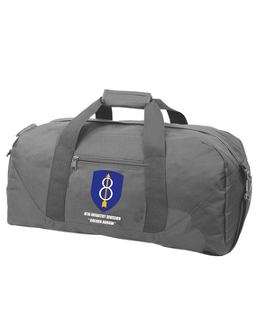 8th Infantry Division Embroidered Duffel Bag