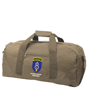 8th Infantry Division w/ Ranger Tab Embroidered Duffel Bag