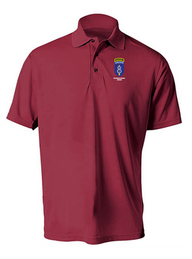 8th Infantry Division Airborne w/ Ranger Tab Embroidered Moisture Wick Polo