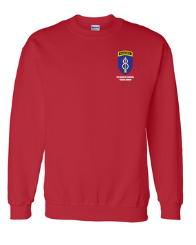 8th Infantry Division w/ Ranger Tab Embroidered Sweatshirt