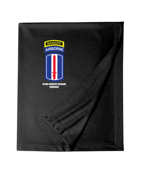 193rd Infantry Brigade Airborne w/ Ranger Tab Embroidered Dryblend Stadium Blanket