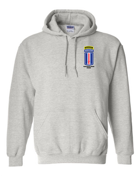 193rd Infantry Brigade Airborne w/ Ranger Tab Embroidered Hooded Sweatshirt with Zipper