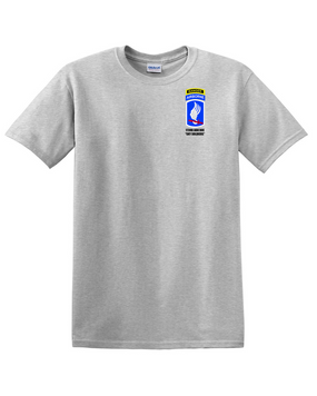 173rd  Airborne Brigade w/ Ranger Tab Cotton T-Shirt -Pocket