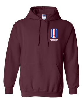 193rd  Infantry Brigade Embroidered Hooded Sweatshirt