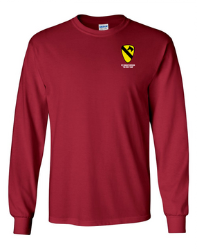 1st Cavalry Division Long-Sleeve Cotton Shirt  -Pocket