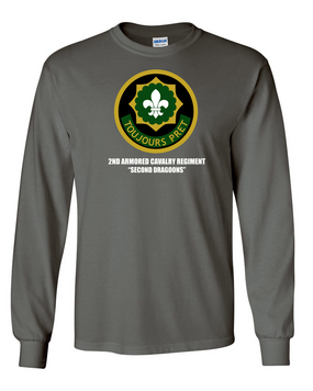2nd Armored Cavalry Regiment Long-Sleeve Cotton Shirt  -Chest