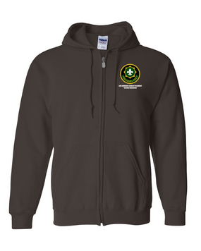 2nd Armored Cavalry Regiment Embroidered Hooded Sweatshirt with Zipper