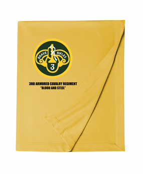 3rd Armored Cavalry Regiment Embroidered Dryblend Stadium Blanket
