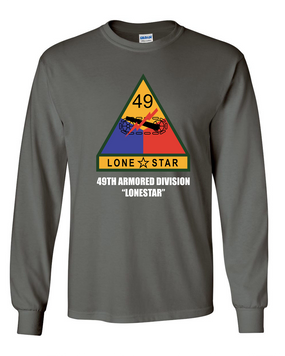 49th Armored Division Long-Sleeve Cotton Shirt  -Chest