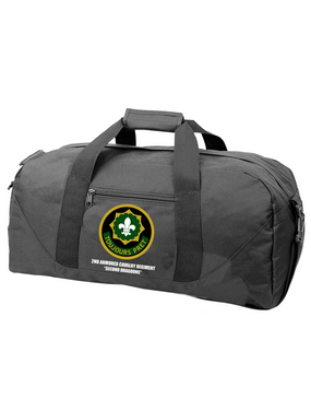 2nd Armored Cavalry Regiment Embroidered Duffel Bag