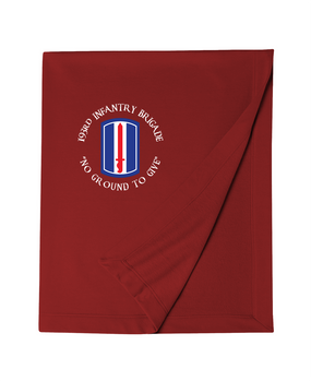 193rd Infantry Brigade Embroidered Dryblend Stadium Blanket (C)