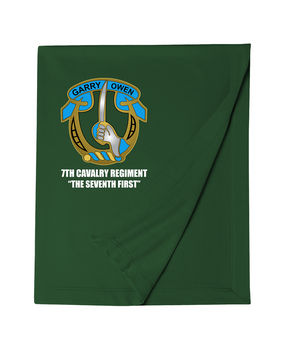 7th Cavalry Regiment Embroidered Dryblend Stadium Blanket